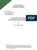 French - Intérêts et banques en droits juif chretien et musulman 2010
