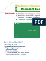 Excel Básico 2016 (Sistemas Uni)