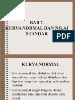 Bab 7, Kurva Normal Dan Nilai Standar