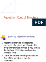 Repetition Control Structure in C Programming