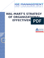 Wal-Mart's Strategy of Organizational Effectiveness Slide
