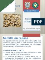 CLASE N°03 FISIOLOGIA DE LA SEMILLA