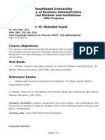 CourseOutlineFinancial Markets and Institutions SEUFeb2015.docx