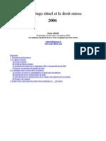 French - L'abattage rituel et le droit suisse sénat belge 2006