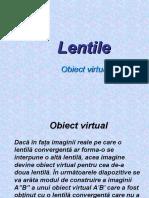 Lentile Obiect Virtual
