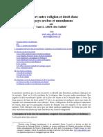 French - Rapport Entre Religion Et Droit Dans Les Pays Arabes Et Musulmans 2006