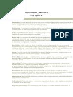GLOSARIO PSICOANALITICO- Leó