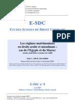 French - Régimes matrimoniaux en droit arabe et musulman 2007