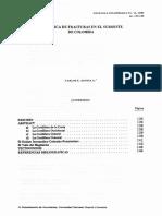 TECTONICA DE FRACTURAS EN EL SUROESTE DE COLOMBIA
