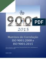 Matrizes de Correlaça o ISO 9001-2008 e ISO 9001-2015
