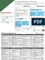"""Programa y Presentaciones """"Jornadas de Territorio ciudad y Salud Colectiva"""""""