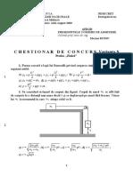 Chestionar Simulare Fizica 2003