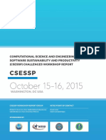 Computational Science And Engineering Software Sustainability And Productivity (CSESSP) Challenges Workshop Report