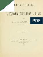 Aron Maurice - Histoire de l'excommunication juive.pdf