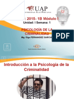 Semana 1 Introduccion a La Psi. Criminalidad