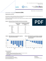 Industria septiembre, según el INDEC
