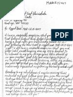 Dede Evavold Letter to District Court - October 17, 2016