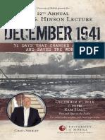 Pearl Harbor anniversary lecture