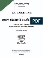 La Doctrine Du Corps Mystique de Jesus-Christ 000001113