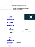 Los Hombres Como Elemento Fundamental en El Sistema Economico
