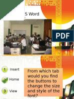 Quiz on Microsoft Word