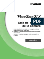 PowerShot G1X Camera User Guide ES