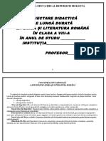 Proiectarea Clasa a VIII-a.doc