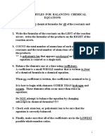 Rules of Balancing Equations