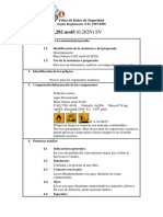 MSDS Plata Nitrato 0,282 Mol-l (0,282N) SV-bio