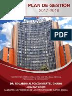 Plan de Gestión 2017 - 2018 - Rolando Martel Chang - Candidato a La Presidencia de La Corte de Lima