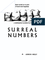 KNUTH, Donald E. - Surreal Numbers