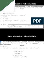 Física Moderna - Exercícios de Radioatividade