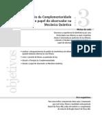 Aula03 - O Princípio Da Complementaridade e o Papel Do Observador Na Mecânica Quântica