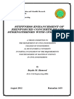 Stiffness Enhancement of Reinforced Concrete Beams StrengtHened With CFRP Sheetsمهم