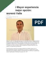 31.10.16 Mayor experiencia para la mejor opción- Moreno Valle