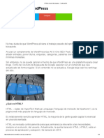 HTML Versus Wordpress