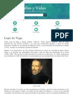 Biografia de Lope de Vega