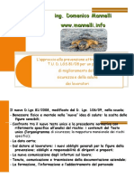 L Approccio Alla Prevenzione Atrraverso Il Nuovo T.U. D. Lgs. 81 08 Per Un Percor