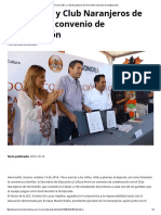14/10/16 Firman SEC y Club Naranjeros de Hermosillo Convenio de Colaboración - Termómetro en Línea