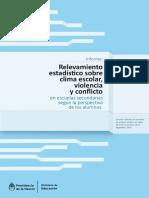 2014 - Estudio Sobre Clima Escolar, Violencia y Conflicto