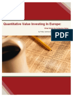 Quantitative Value Investing in Europe