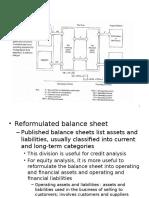 Reformulating Financial Statements