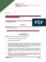 Ley de Ingresos 2016 Oaxaca