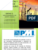 Especificaciones Para Entrega de hidrocarburo