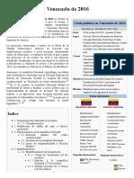 Crisis Política en Venezuela de 2016 -