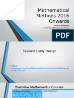 Mathematical Methods 2016 Onwards