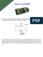 Medida de Distancias Com SRF04