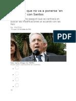 Uribe Dice Que No Va a Ponerse