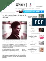10 Frases Extraordinarias de Simone de Beauvoir _ ActitudFEM