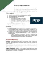PATOLOGÍAS PULMONARES